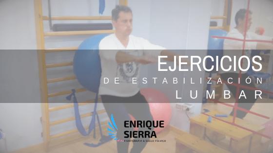 Ejercicios de estabilización lumbar con Fitball
