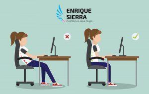 La postura correcta para teletrabajo como sentarse bien