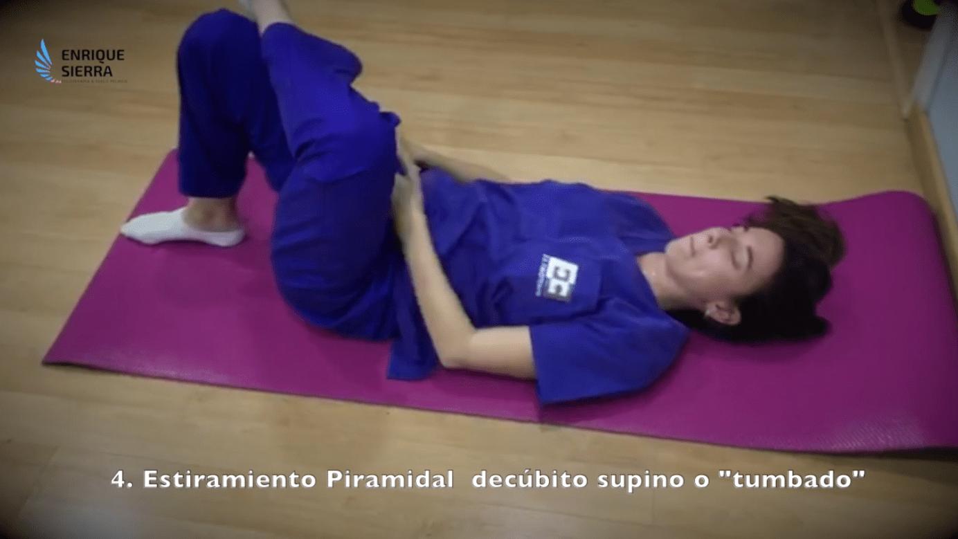 Ejercicios trocanteritis con estiramiento del piramidal