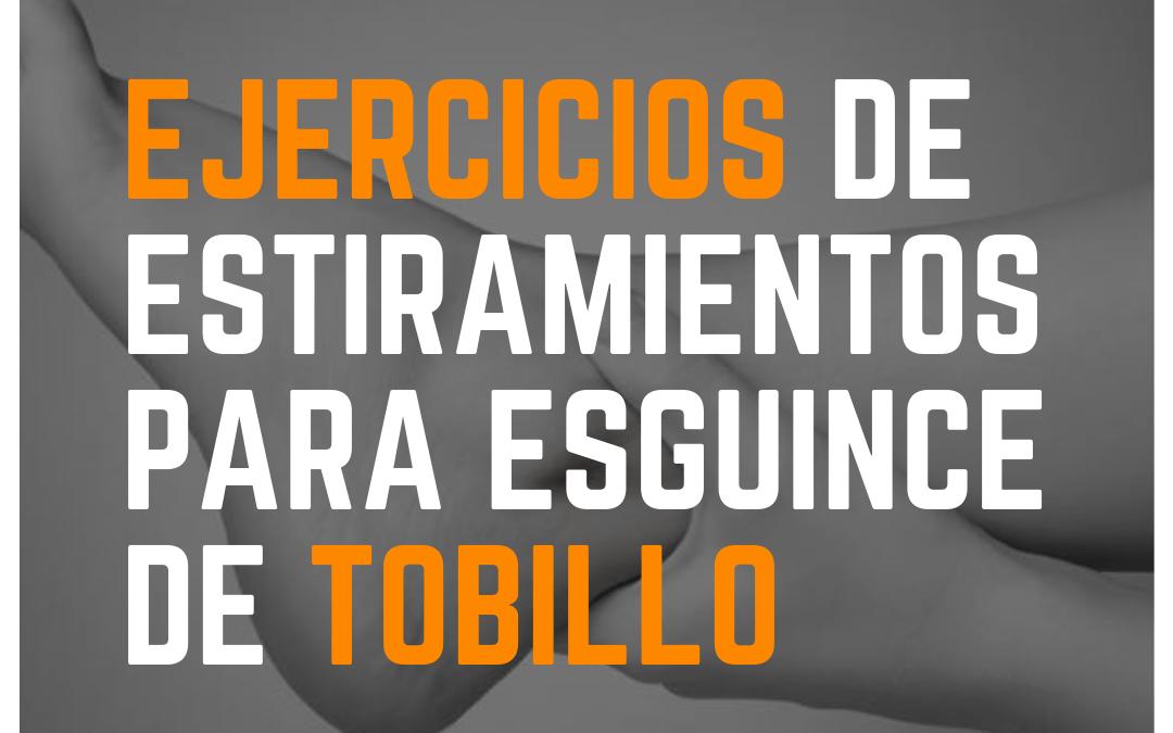 Ejercicios esguince de tobillo Fisioterapeuta Zaragoza