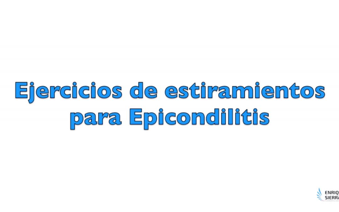 Ejercicios para Epicondilitis