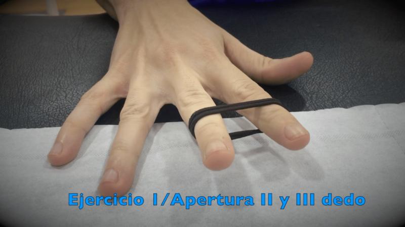 Ejercicios para Túnel Carpiano con apertura de los dedos
