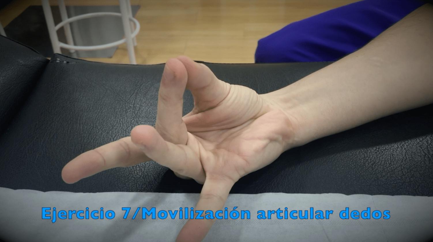 Ejercicios para túnel carpiano con movilización articular de los dedos