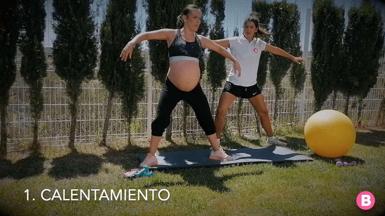 Ejercicios calentamiento para embarazadas