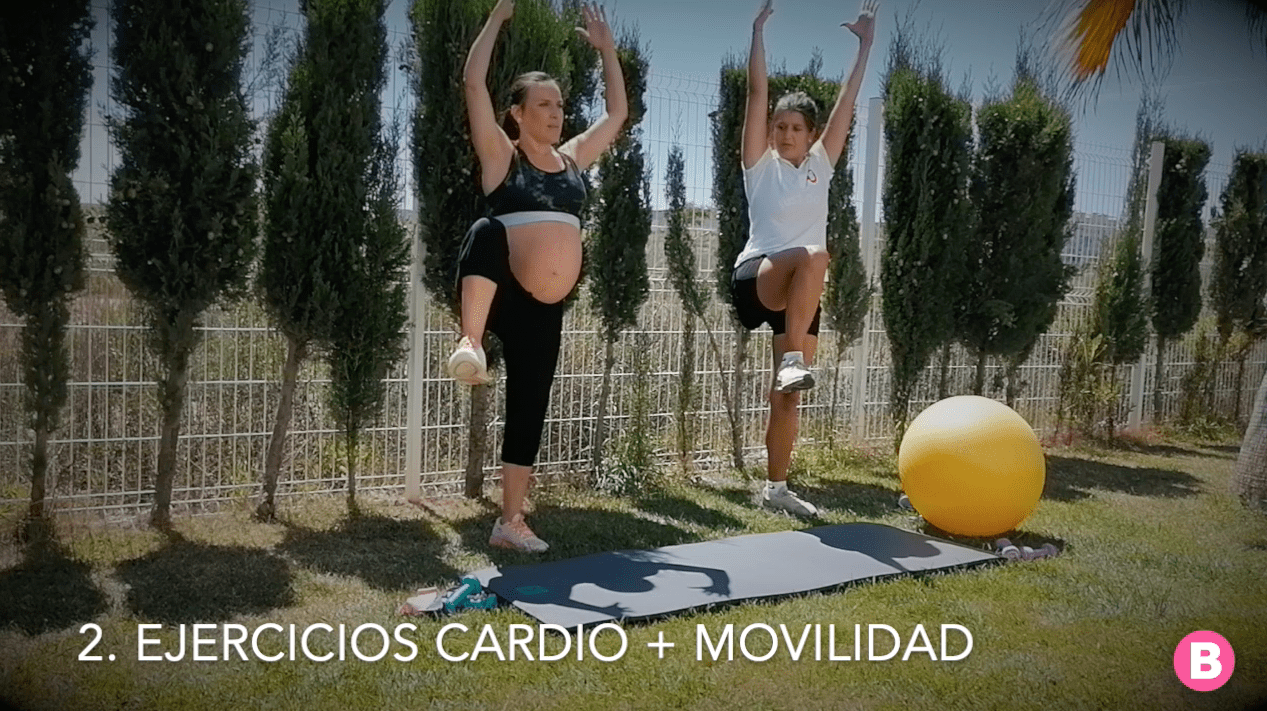 Ejercicios cardio movilidad para embarazadas