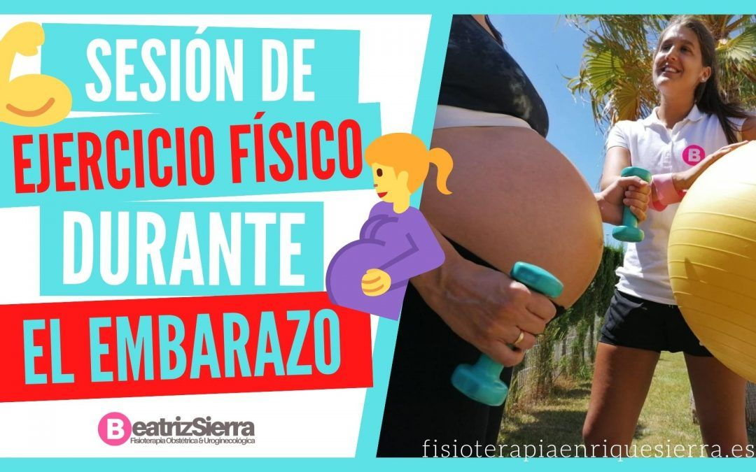 Sesión de ejercicio físico durante el embarazo