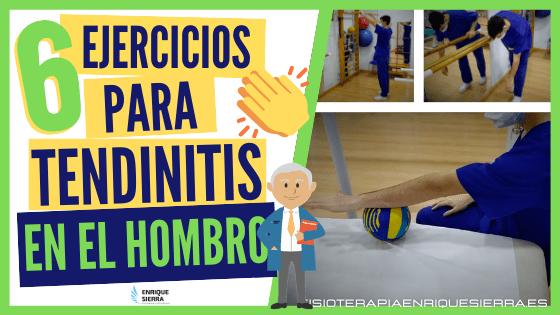 🥇 6 ejercicios para tendinitis en hombro (para HACER EN CASA 🏠)