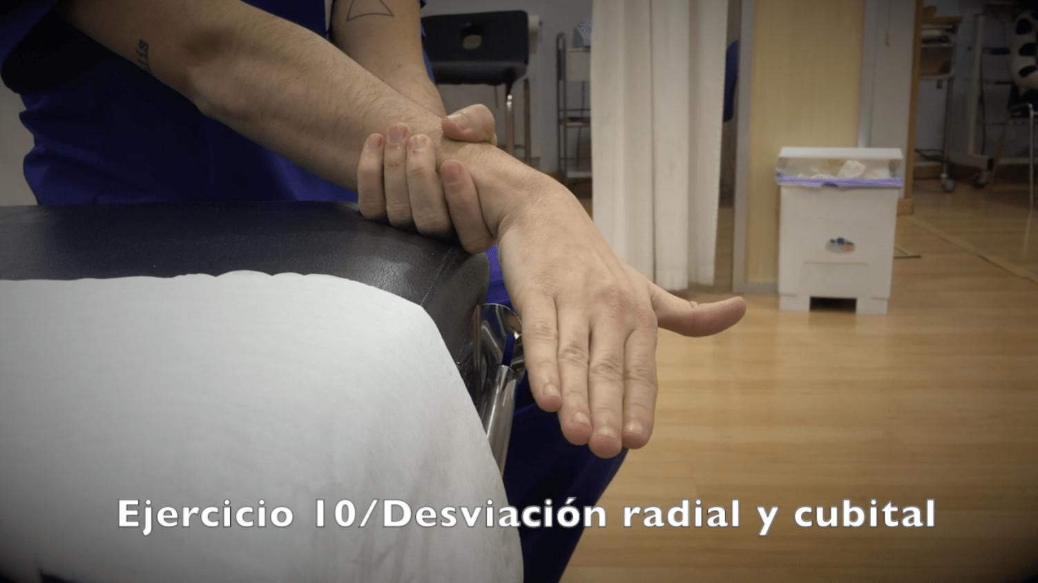 Ejercicios para fractura de muñeca desviacion radial cubital