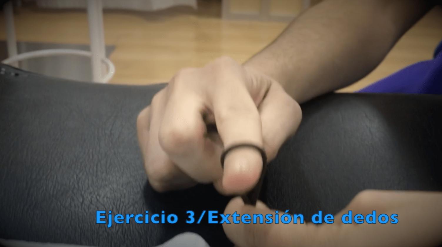 Ejercicios para fractura de muñeca extension dedos