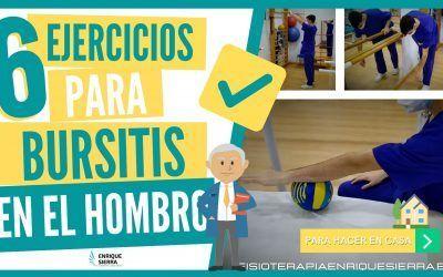 6 ejercicios para bursitis en el hombro para hacer en casa